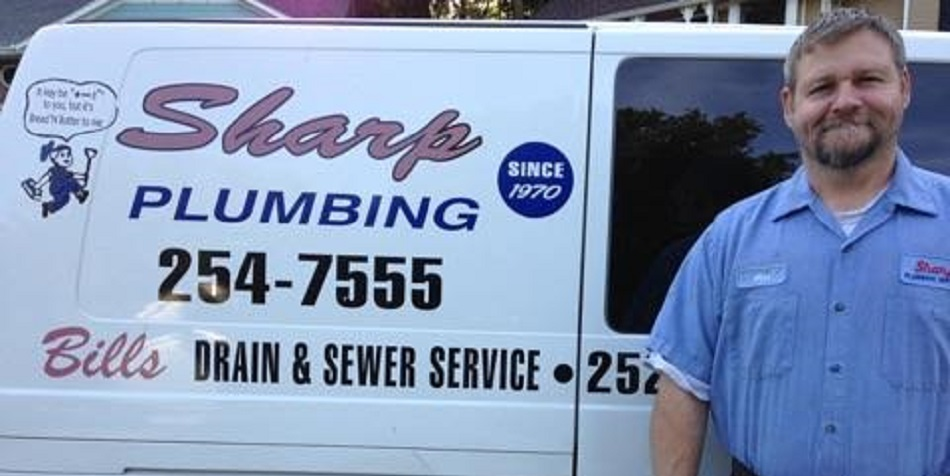 sharp plumbing homepage image